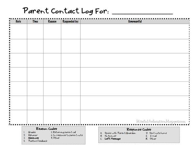 Best 25+ Parent communication log ideas on Pinterest Parent - communication log template