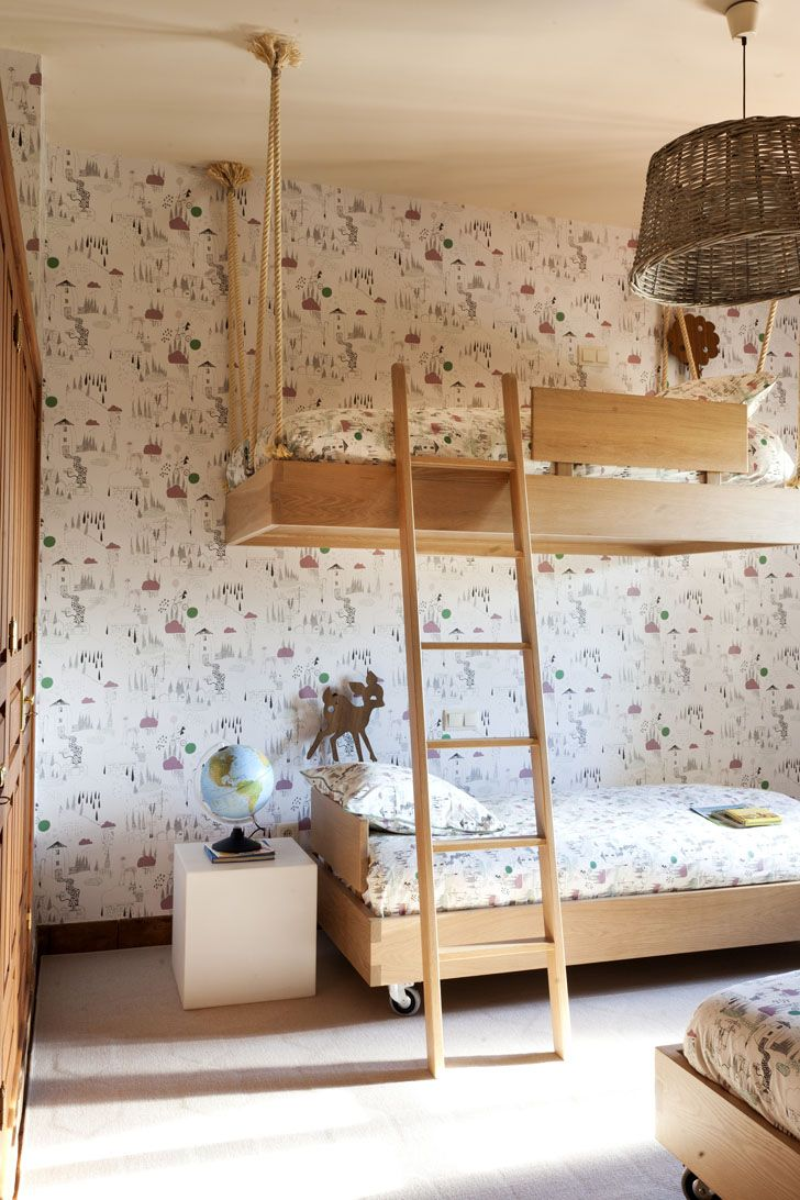 1170 best images about kids 39 rooms bunk beds built ins for Suspended beds for kids