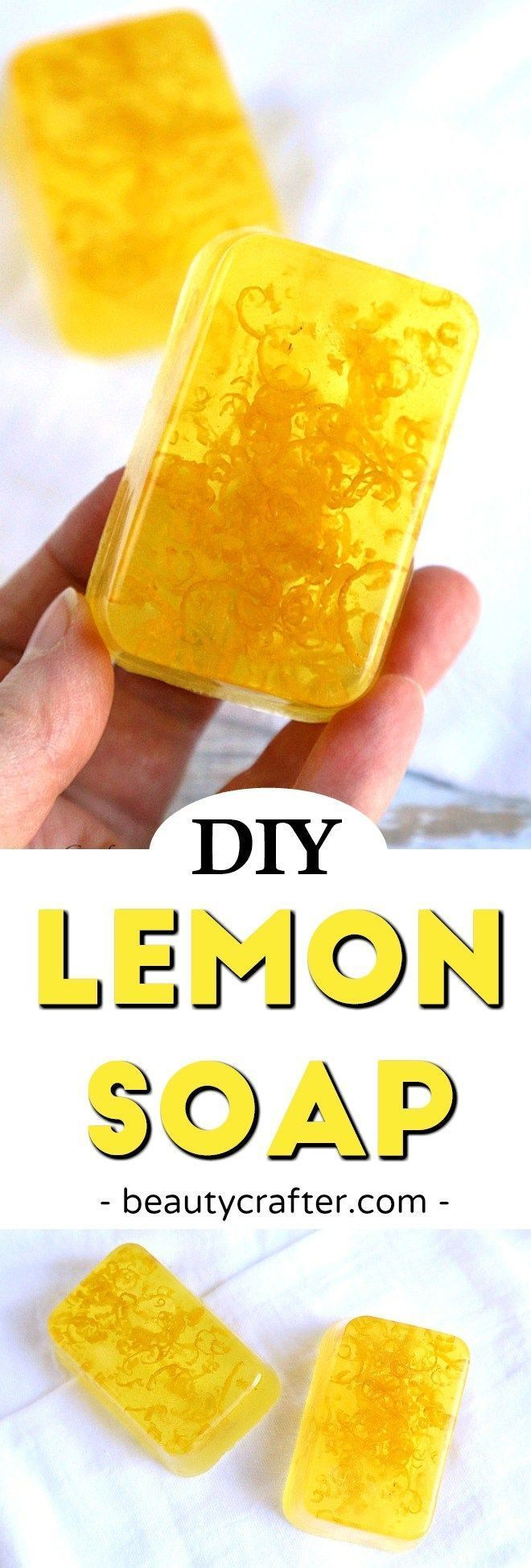 Lemon Soap - DIY Soap Recipe - Refreshing Lemon Zest soap makes a great DIY gift! #soap #soapmaking #crafts #diygifts #MothersDay #lemon