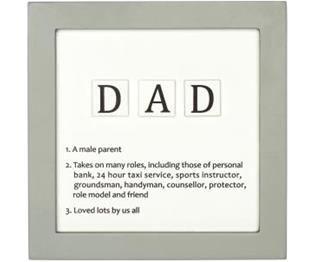 Baba Açıklamalı Scrabble Tabela