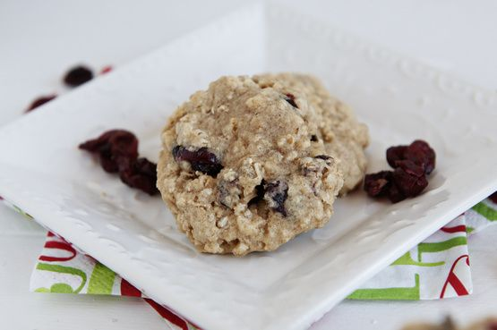 This festive Chewy Oatmeal Cranberry Cookies Recipe from Food.com blends the best of all holiday flavors.