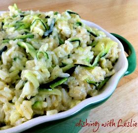 Dishing With Leslie: Cheesy Zucchini Rice