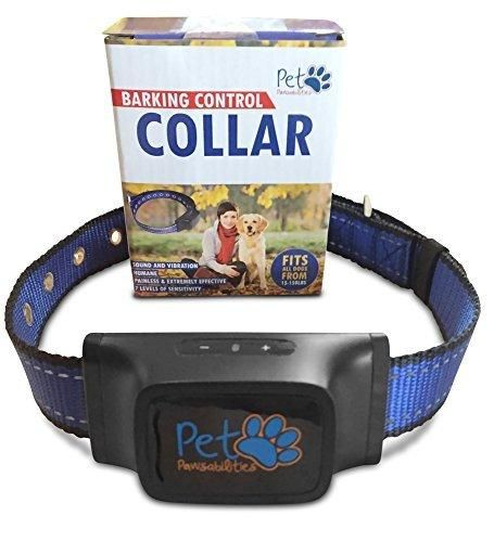 NO SHOCK Humane Bark Control Collar 7 Different Bark Sensitivity Levels Extremely Effective & No Pain or Harm Bark Collar Vibration Premium Nylon Collar and No Rust Buckle For 20-150 lb Dogs