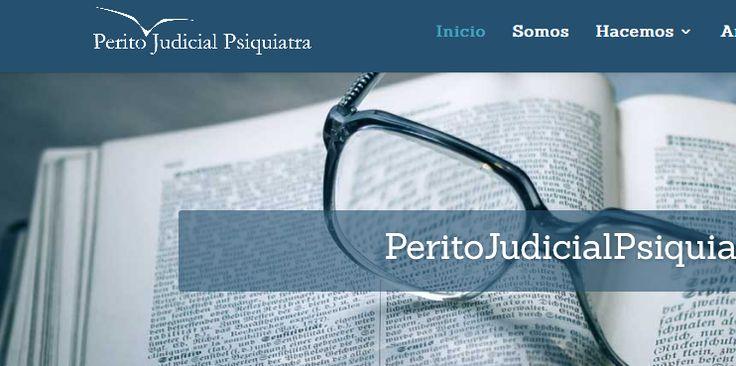 Diseñamos la página para este servicio de peritaje psiquiátrico en Madrid. Una página pertinente y profesional dedicada al sector del peritaje en psiq