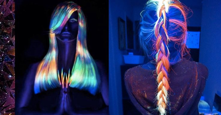 Forget glow sticks. Use your locks to shine in the dark. - OMG!! I want to do this, like ASAP!!