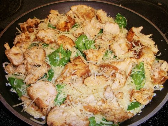 Lemon angel hair pasta with chicken and spinach. Easy weeknight meal. Sub half and half for Greek yogurt