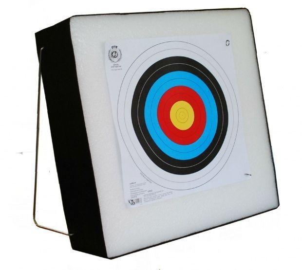 Piankowa mata łucznicza 80 x 80 x 10cm + stelaż :: Strzały.pl