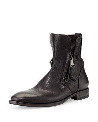 Sfamber Zip Croco Boot, Bottes Femme, Noir (Black), 36 EUSelected