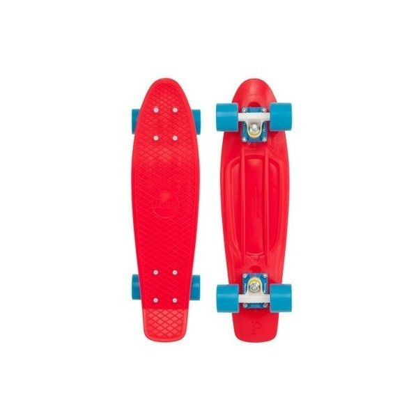 """Penny Skateboards Penny Classic 22"""" Plastic Skateboard Complete (£69) ❤ liked on Polyvore featuring fillers, skateboards, penny board, red fillers and skate"""