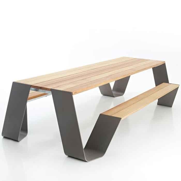 Hopper Tisch Iroko Holz - Extremis - ArenasCollection.com
