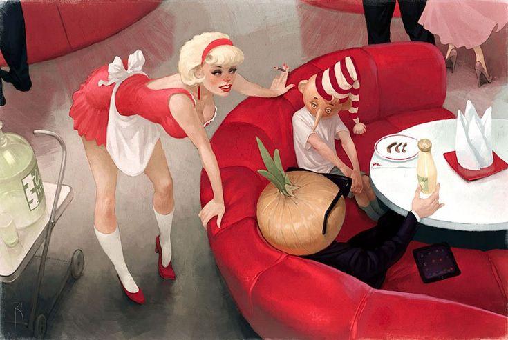 Waldemar von Kazak'ın mükemmel illüstrasyonlarıyla 21. yüzyılın yozlaşmış toplumu | Gaia Dergi