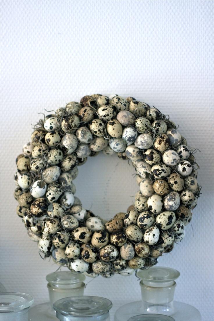 #kwarteleitjes #krans u vindt #kwarteleitjes 002497 op www.pompoenzaden-decoshop.nl