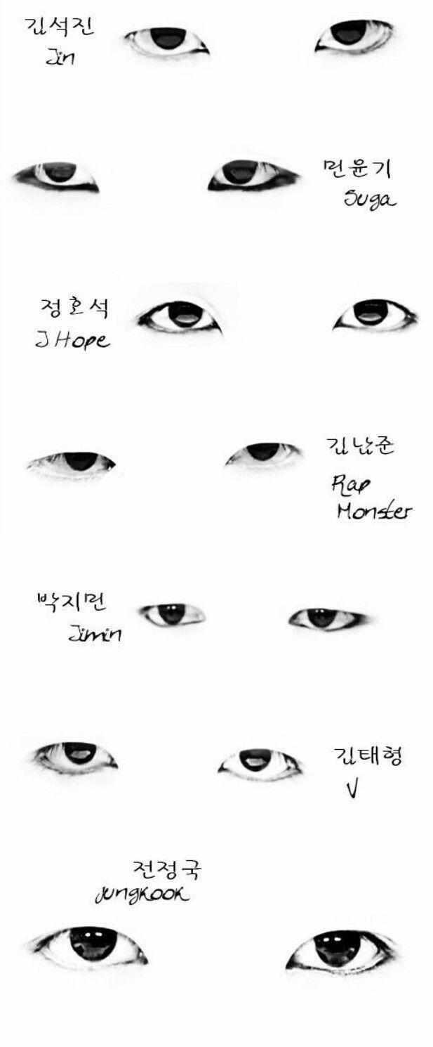 Kak Narisovat Glaza Uchastnikov Bts Bts Eyes Bts Drawings Eye Drawing