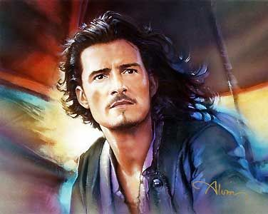 Pirates of the Caribbean - Will Turner - John Alvin - World-Wide-Art.com - #piratesofthecarribean #orlandobloom #disney