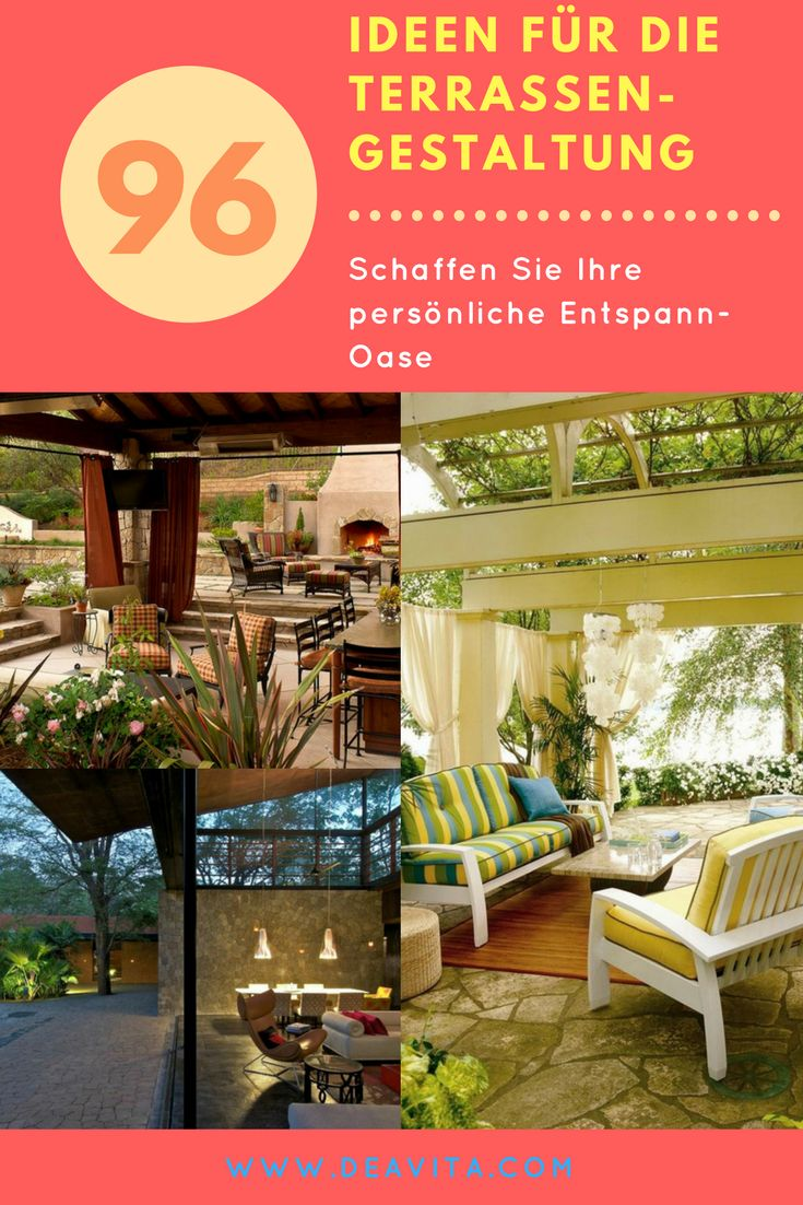 17 Best Images About Terrasse On Pinterest | Coins, Haus And Design Gartenterrassengestaltung Ideen Beispiele