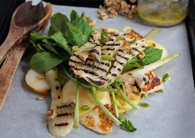 Grilled Fennel, Apple, and Queso Fresco Salad