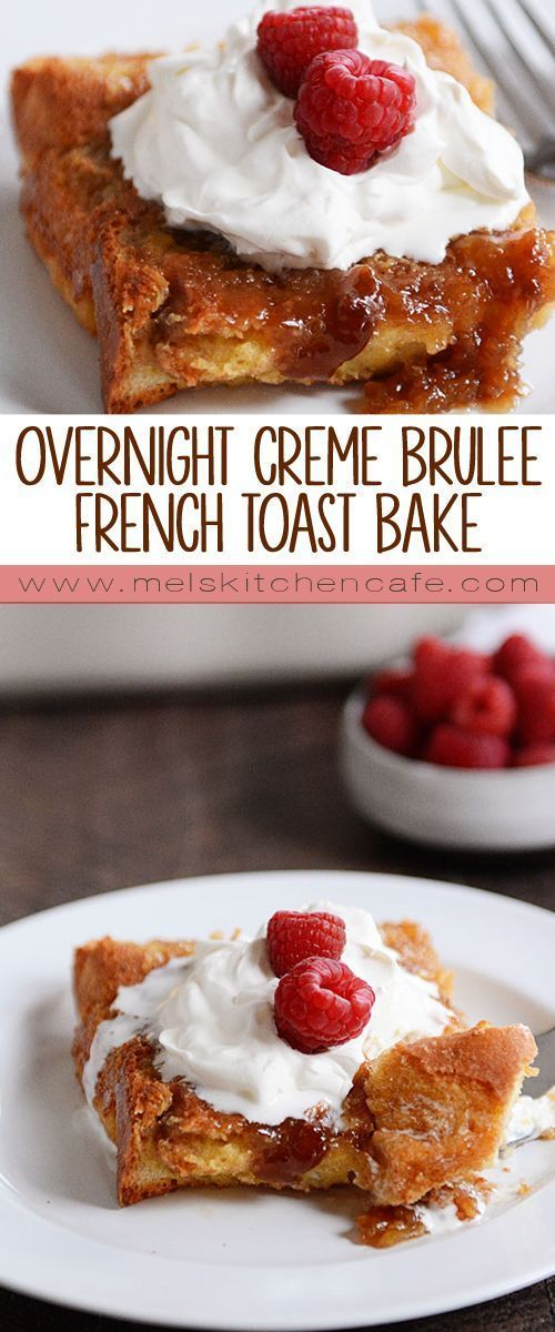 This easy, dreamy baked creme brûlée french toast, thanks to its overnight prep, is so simple and so delicious. It's bound to be a new breakfast favorite!
