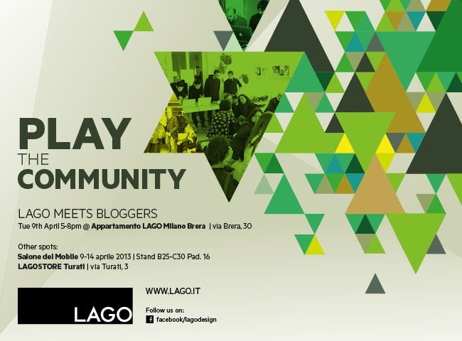 iDesignMe_Play the Community http://idesignme.eu/2013/04/lago-play-the-shop/ #LAGO #appartamentolago #breradesigndistrict #fuorisalone2013  #milandesignweek2013 #partyMilano #eventstips #blogger