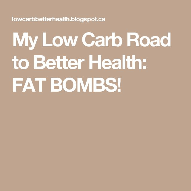 My Low Carb Road to Better Health: FAT BOMBS!