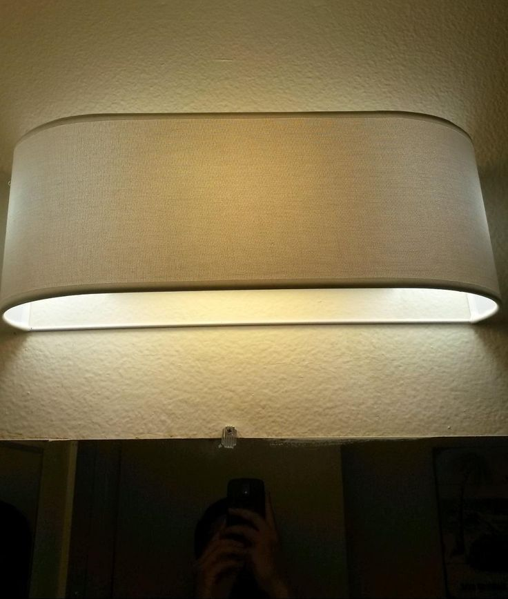 Vanity Light Refresh Conversion Kit : 20 best images about Hiding Vanity Bulbs on Pinterest Shade covers, Fluorescent light covers ...