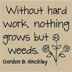 Good works handout -- President Hinckley quote