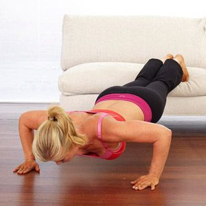 Alison Sweeney's Couch Workout - Got 24 minutes during your fave sitcom? Then sculpt muscles at home.