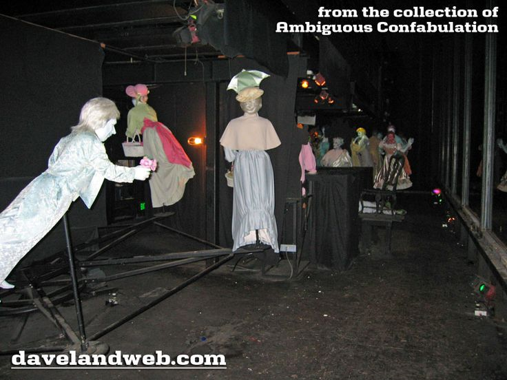 DAVELAND HAUNTED MANSION PHOTO Ghosts arriving at the ballroom