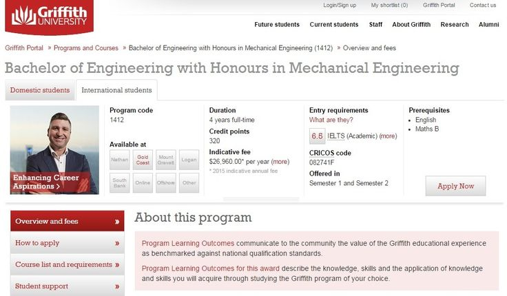Bachelor of Engineering with Honours in Mechanical