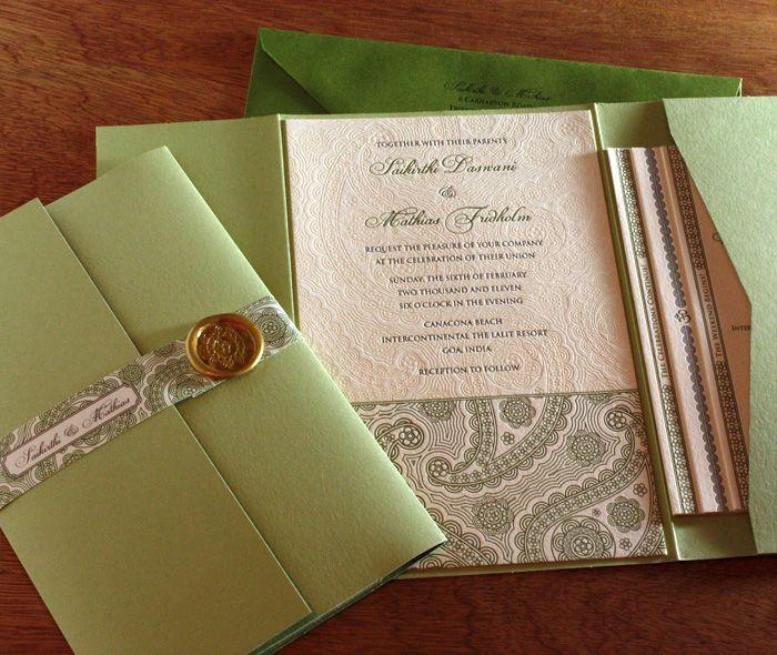 pocket folder, invitation suite, letterpress by invitations by ajalon