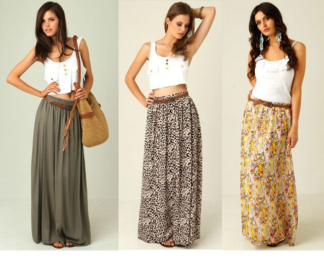 Top 25 ideas about Maxi skirt ideas on Pinterest | Denim jackets ...