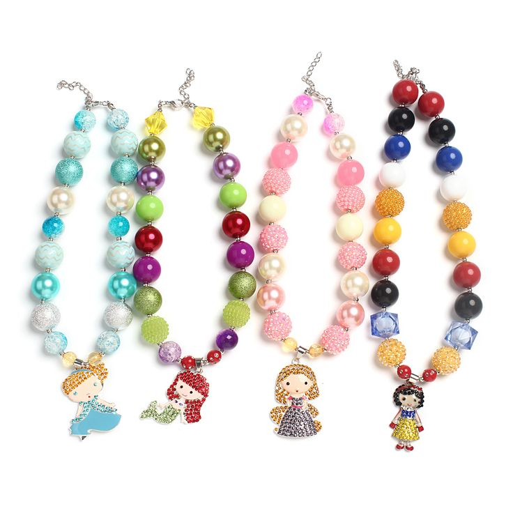 4Pcs/set Chunky Beads Bubblegum Necklace for Party Favor : Jewelry Making Supplies - Wholesale Beads,Jewelry Findings and Tools.
