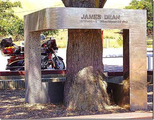 Paso Robles, CA - Site of James Dean car crash...stopped here on my way home from Disneyland