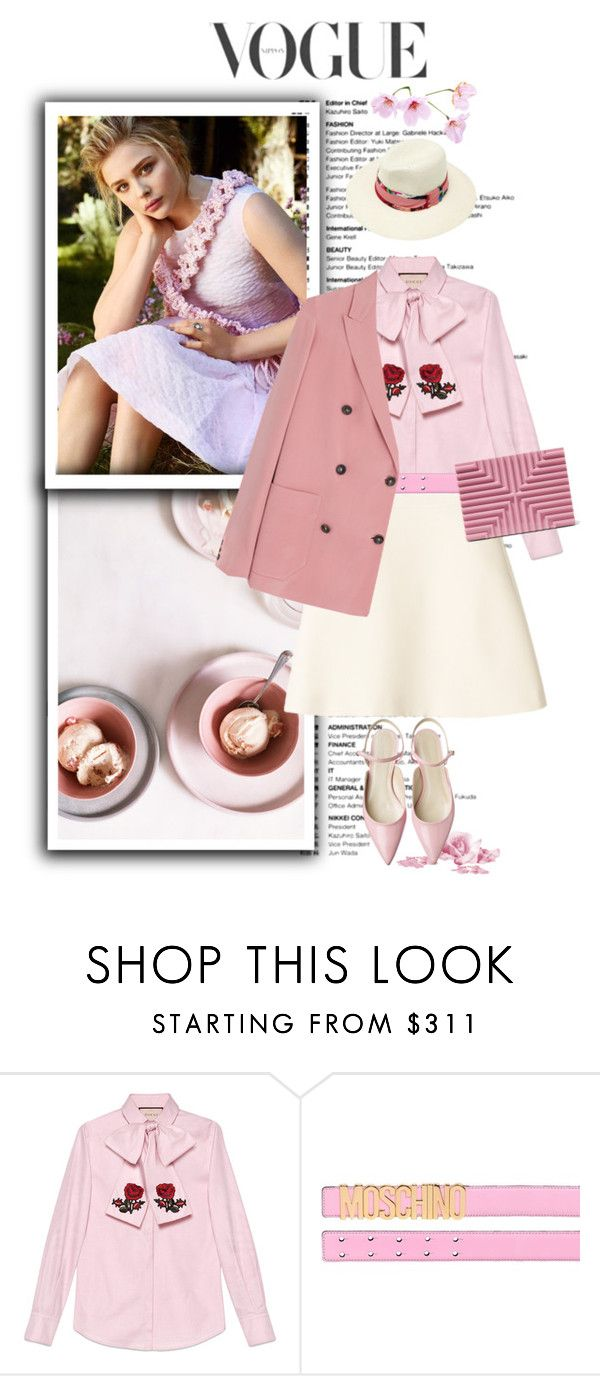 """""""Beauty is what you feel about yourself not about what you see in the mirror."""" by terrelynthomas ❤ liked on Polyvore featuring Gucci, Moschino, Lee Savage and pinkpower"""