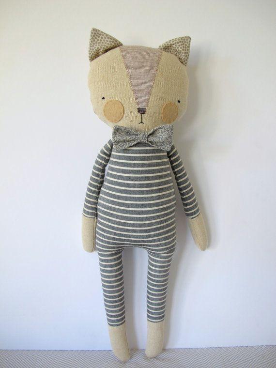 Luckyjuju Puppen sind handgefertigt aus neue und Vintage Stoffen, Filz und…