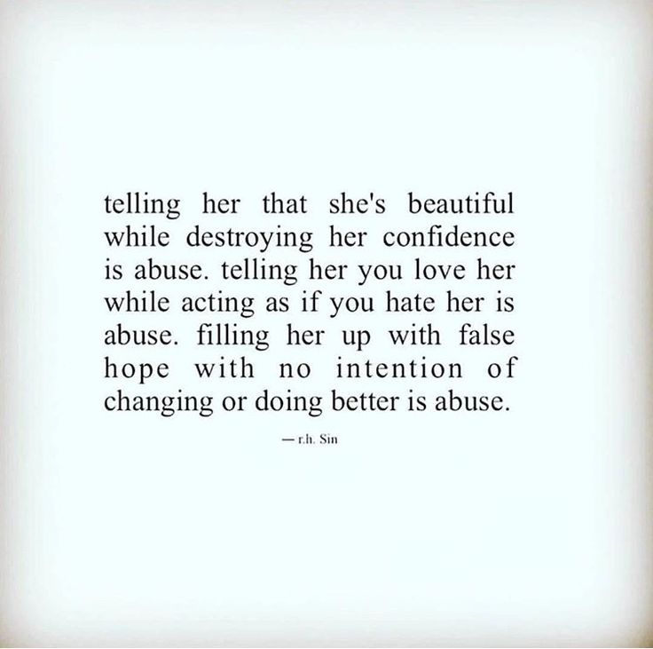 Gotta love how nobody wants to be abused but they're okay if you are abused.....