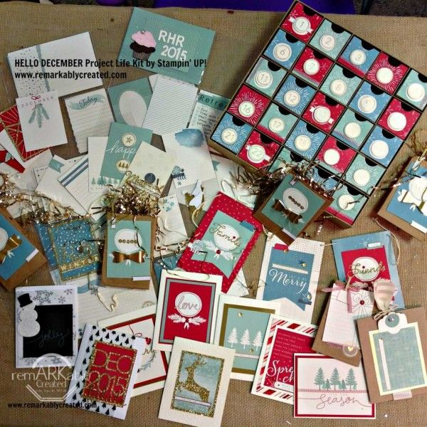 GV Achievers Blog Hop – You made all that with Hello December Project Life kit