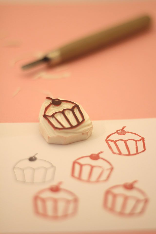 How to Make a Rubber Stamp.  Learn how to make rubber stamps from inexpensive erasers - great tutorial.