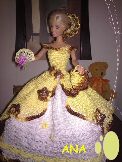 vestido muñeca barbie