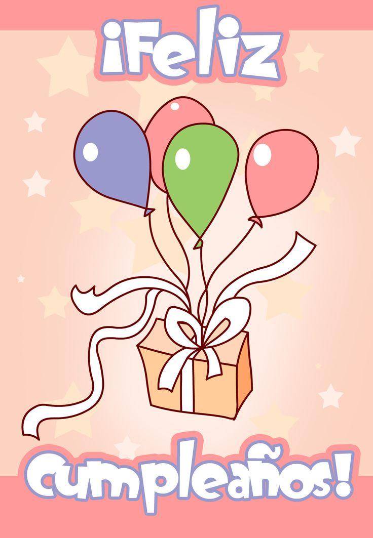 tarjetas de globos y pastel para imprimir