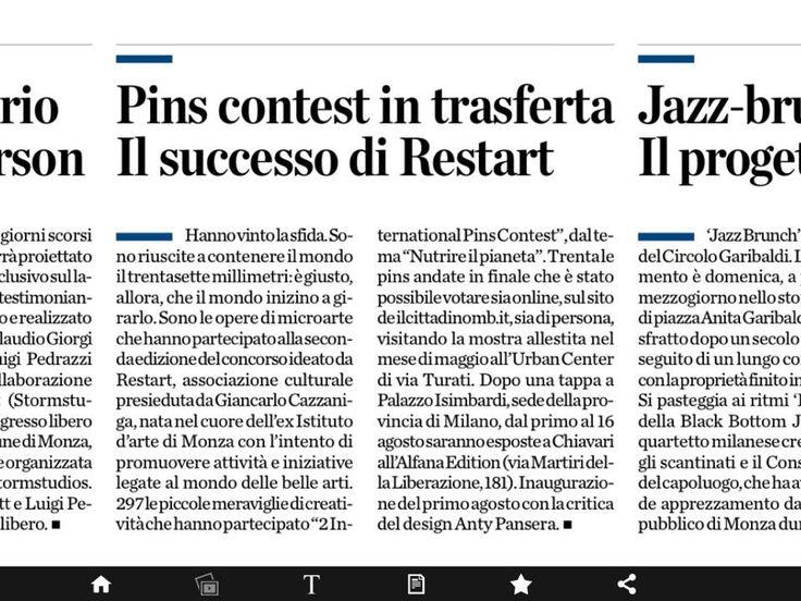"""1*TAPPA  International Pins in tour  2014- Monza, teatro binario7"""" giugno 2014 con votazione popolare. - Premiazione vincitori presso sede congressi de Il Cittadino."""