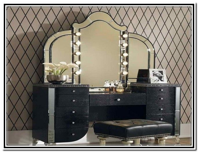 Vanity Mirror Table With Lights: Lighted Vanity Mirror Ikea,Lighting