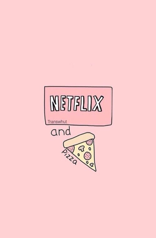 Netflix and pizza iphone wallpaper
