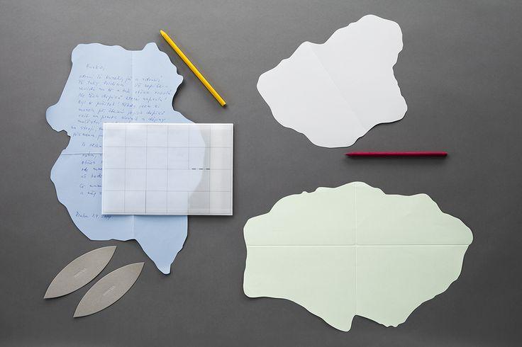 Ostrovy – dopisní set Korespondenční kolekce carta papelote - nové české papírnictví new czech stationery, Prague