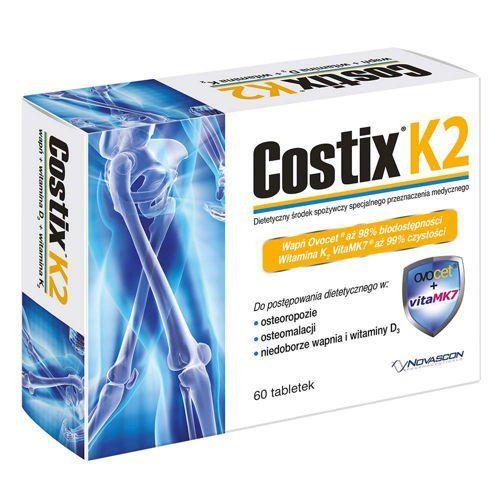 Costix K2 x 60 tablets, calcium, vitamin D3 and vitamin K2
