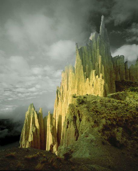 Bolivia - View of the badlands above La Paz by Danita Delimont