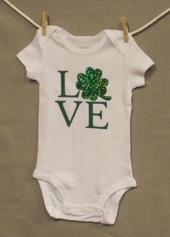 Irish Love Shamrock,Irish Baby,Irish Knot,Baby Clothes,Bodysuit, Funny Baby Onsie, Baby Onesie, Unique Baby Onesie,Baby Onsie, Baby Shower, by PersonalizedGiftsEtc on Etsy