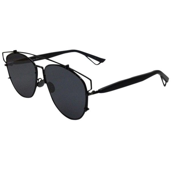 Pre-owned Dior Technologic 57mm Pantos Sunglasses Black/dark Grey ($520) ❤ liked on Polyvore featuring accessories, eyewear, sunglasses, black eyewear, christian dior glasses, black glasses, futuristic sunglasses and christian dior