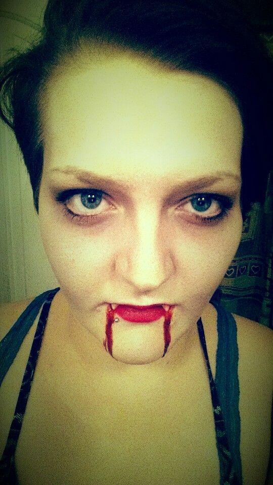 Really quick vampire look