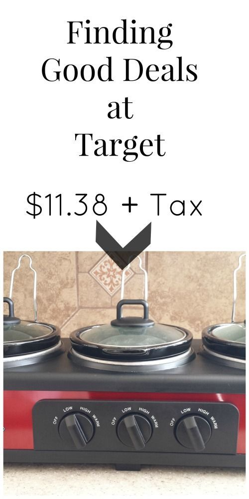 Target Clearance Find: 3-Pot Slow Cooker, how to find some of the best deals at Target - United Moms Network