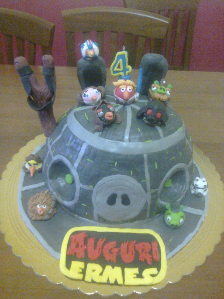 torta in pasta di zucchero del 4° compleanno di mio figlio
